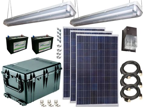 solar power lighting kit for sheds garages remote