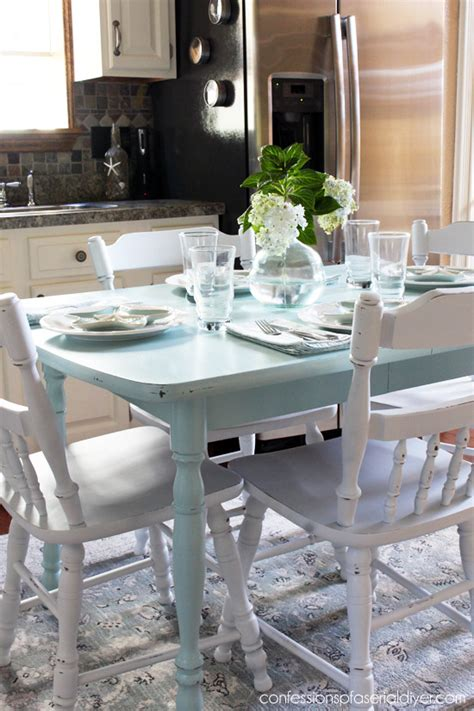 laminate kitchen table how to paint a laminate kitchen table confessions of a