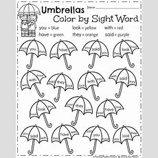 April Kindergarten Worksheets  Planning Playtime