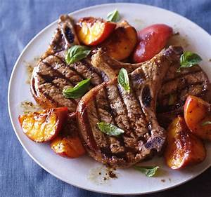 grilled pork chops with caramelized basil