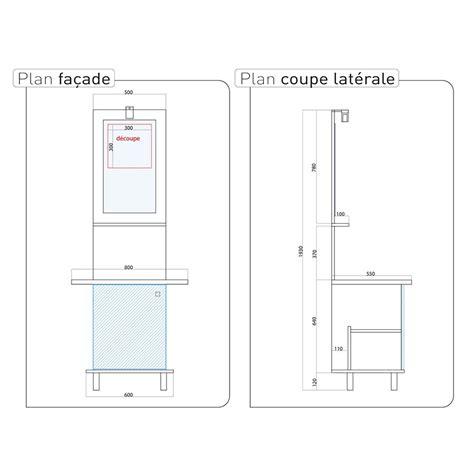 norme hauteur meuble haut cuisine davaus hauteur miroir salle de bain avec des idées