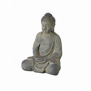 Buddha Bilder Gemalt : buddha figur 42x30x28 grau ~ Markanthonyermac.com Haus und Dekorationen