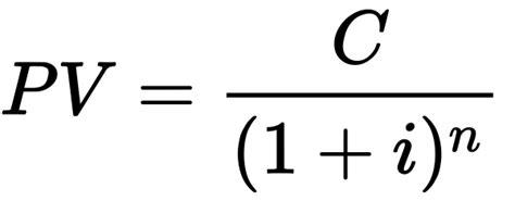 present  calculator  present  formula