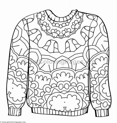 Coloring Sweater Ugly Pages Getcoloringpages