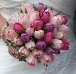tulip bouquet wedding beautiful bridal tulip wedding bouquets