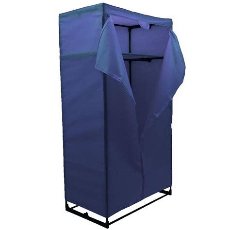 Canvas Wardrobe by Wardrobe Blue Canvas Rail Bedroom Storage Clothes