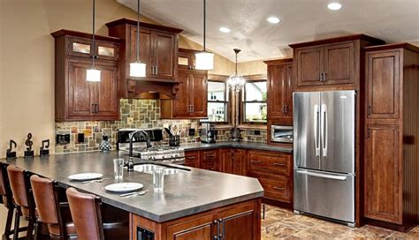 cherry cabinets with gray countertops trending color it bold in 2015