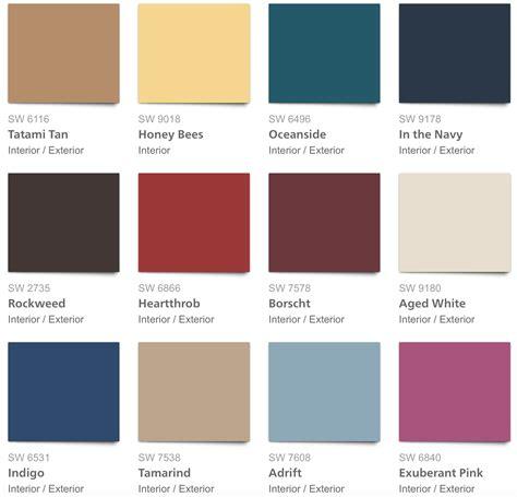 sherwin williams 2018 unity palette rv ideas 2018