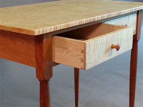 hand  cherry  tiger maple shaker side table