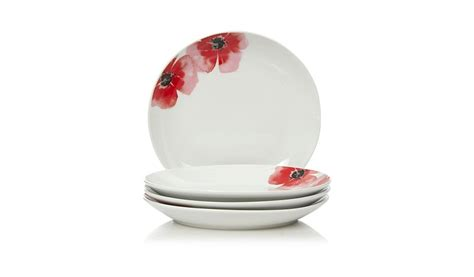 poppy plates set george home poppy side plates set of 4 dining george at asda