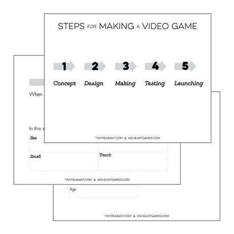 tiny peasant video game design template