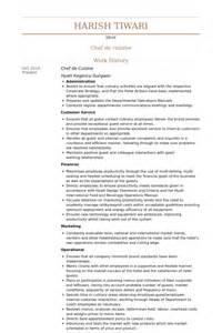 resume sle for chef de partie chef de cuisine resume sles visualcv resume sles database