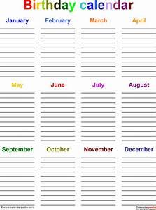 best photos of birthday reminder calendar free template With birthday reminder calendar template
