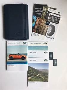 2018 Land Rover Range Rover Evoque Owner U0026 39 S Operator Manual