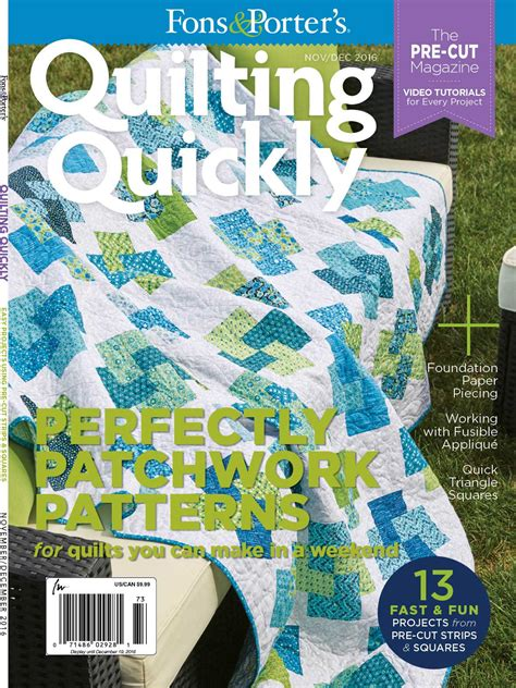 fons and porter quilting quickly quilting quickly november december 2016 fons porter