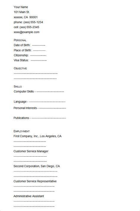 46+ Blank Resume Templates  Doc, Pdf  Free & Premium. Retail Skills Resume. Headshot And Resume Printing. Skills Accounting Resume. Aviation Maintenance Resume. Executive Resume. A Customer Service Resume. Types Of Resume Letter. Student Resume Format