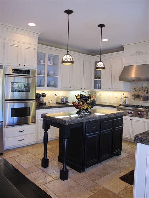 and black kitchen ideas hanging lights island in kitchen