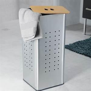 Panier A Linge Design : panier linge inox panier linge et corbeille accessoires salle de bains salle de bains ~ Teatrodelosmanantiales.com Idées de Décoration