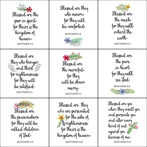 the beatitudes printable wall on sutton place