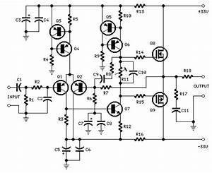 How To Build 25w Mosfet Audio Amplifier  Circuit Diagram