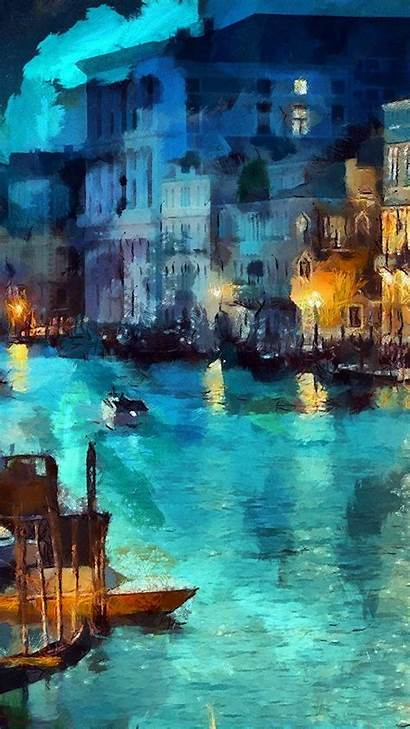 Iphone Painting Classic Water Wallpapers Paintings Night