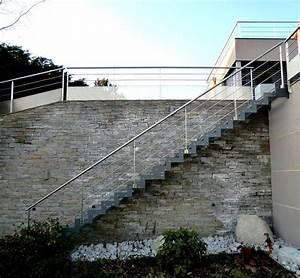 Escalier Exterieur Metal : escalier ext rieur droit ferro avec limon cr maill re ~ Voncanada.com Idées de Décoration