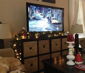 Don, U0026, 39, T, Have, A, Fireplace, To, Decorate, With, Garland, I, Used, Our, Tv, Stand
