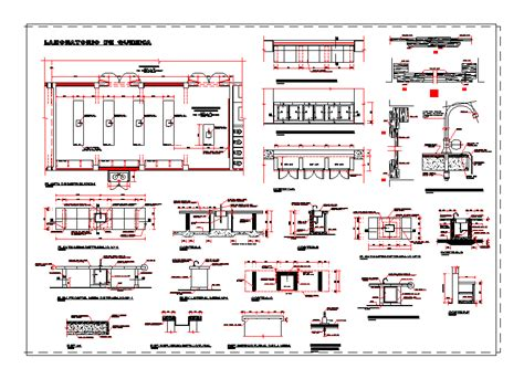 chemical laboratory dwg detail  autocad designs cad