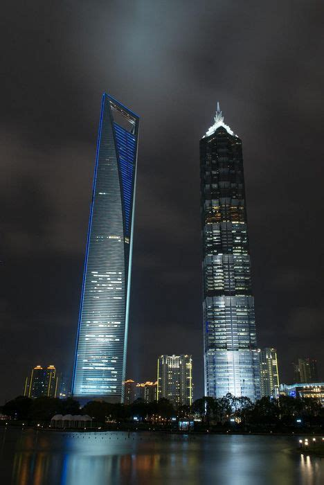 Shanghai WFC (487 m) and Jin Mao Tower (370 m) Shanghai
