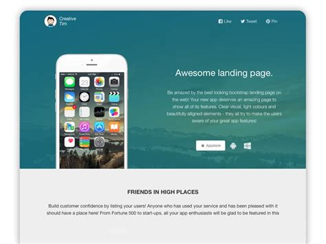 Bootstrap Landing Page 30 Best Bootstrap Templates For Free Dev