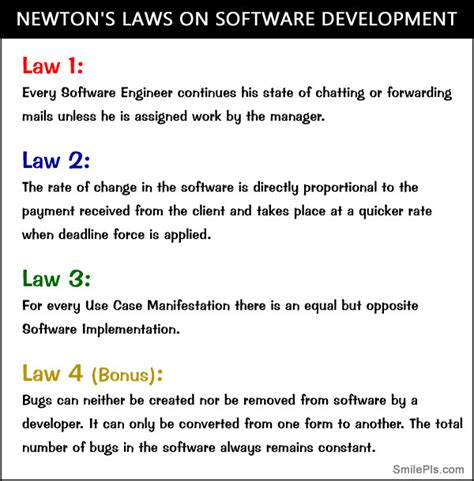 Newton's Laws On Software Development  At Work Pictures
