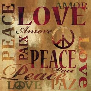 Love And Peace : peace and love print by luke wilson at ~ A.2002-acura-tl-radio.info Haus und Dekorationen