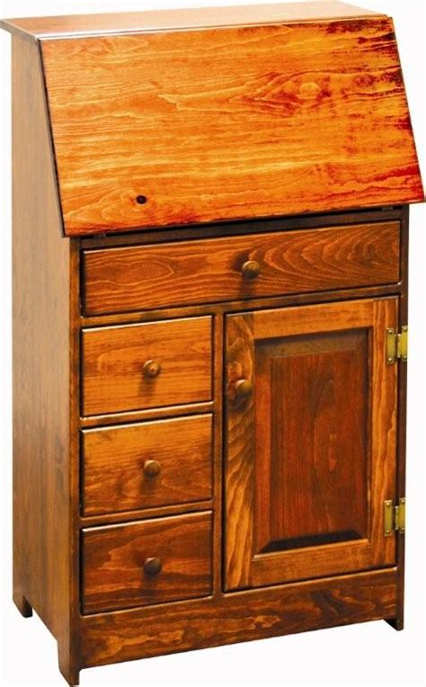 amish small pine secretary desk
