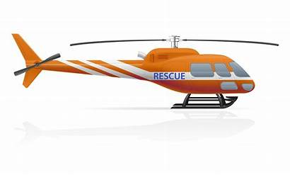 Helicopter Vector Rescue Illustration Clipart Drawn Plane