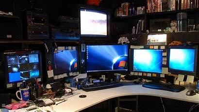 Computer Desktop Craziest Rigs Setup Office Monitors