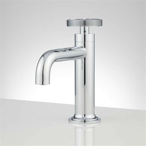 Edison Single Hole Brass Bathroom Faucet With Popup Drain