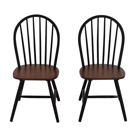 83% Off  Twotone Wood Dining Chairs Chairs