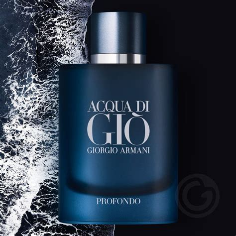 acqua  gio profondo giorgio armani eau de parfum