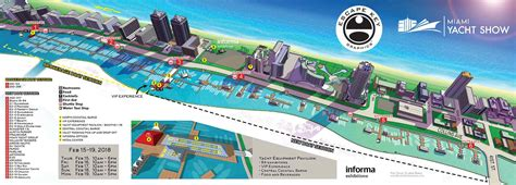 Miami Boat Show 2018 Map by Miami Yacht Show Maps 2018 By Florida Artist And