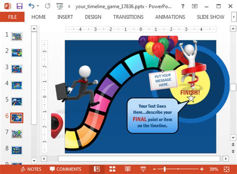 board game timeline template  powerpointpng fppt
