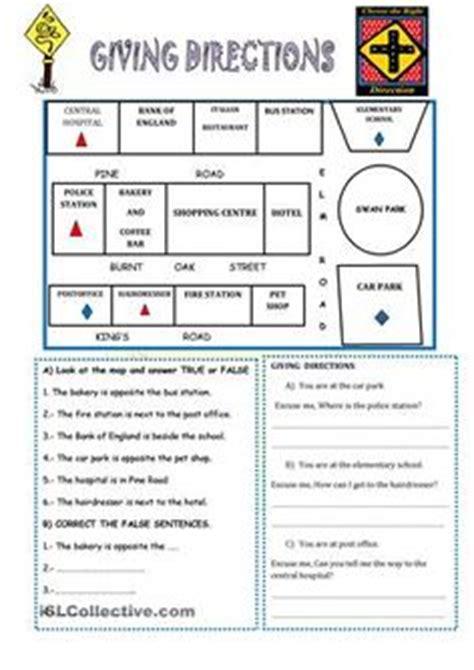 esl give instructions worksheets