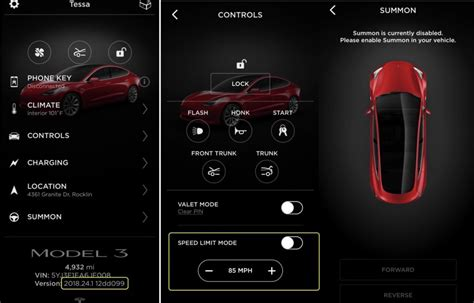 Tesla Car Apps by Closer Look At Tesla Model 3 Speed Limit Mode And Summon