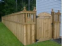 fence gate design Types Of Fences For Your Yard | Just For Beauty and Home