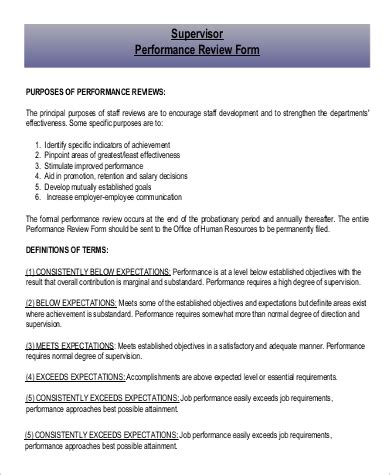 performance sample review  examples  word