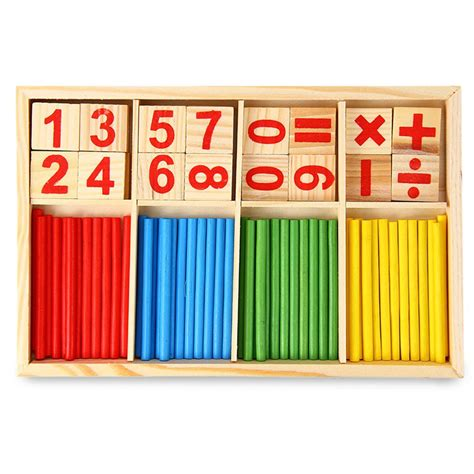 preschool educational toys counting sticks education 627 | Preschool Educational Toys Counting Sticks Education Building Intelligence Blocks Montessori Mathematical Wooden Box Child Gifts