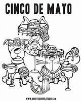 Coloring Mayo Margarita Cinco Derby Kentucky Printable Squirrel Pdf Happy Downloads Getcolorings Getdrawings Weekend Colorings sketch template