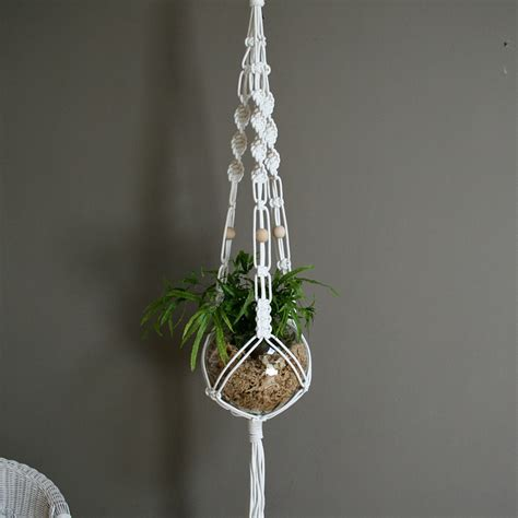 mid century modern cool macrame plant hanger ideas for your home