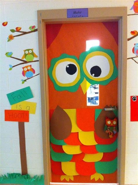 craft ideas for decorations autumn door decorations fall is a hoot owl 6183