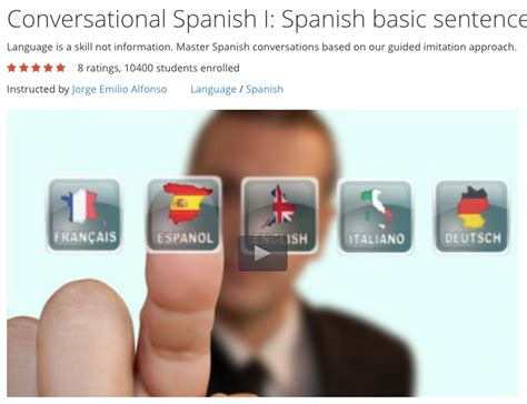 Free Video Course Basic Conversational Spanish Sentence