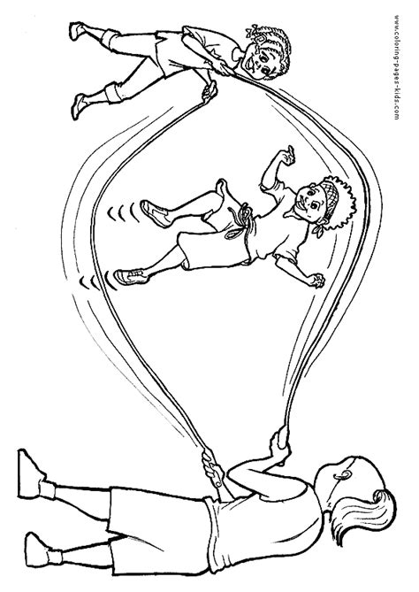 Coloring Ropes by Jump Rope Coloring Pages Coloring Home